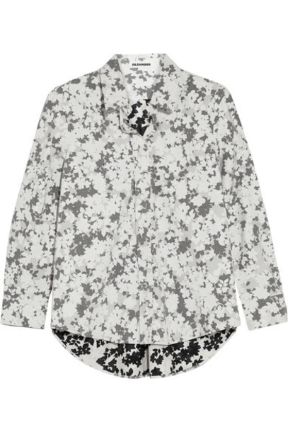 Jil Sander shirt floral cotton print top