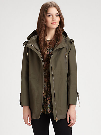RED Valentino - Hooded Nylon Parka - Saks.com