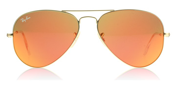 Ray-Ban 3025 Aviator Sunglasses : 3025 Aviator Matte Gold 112/69 58 : UK