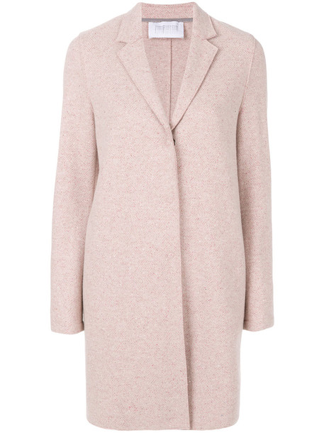 HARRIS WHARF LONDON coat long coat long women silk wool purple pink
