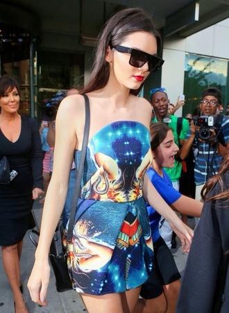kendall jenner blue dress short dress designer love colorful streetstyle