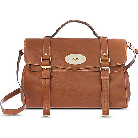 MULBERRY - Alexa polished buffalo leather satchel | Selfridges.com
