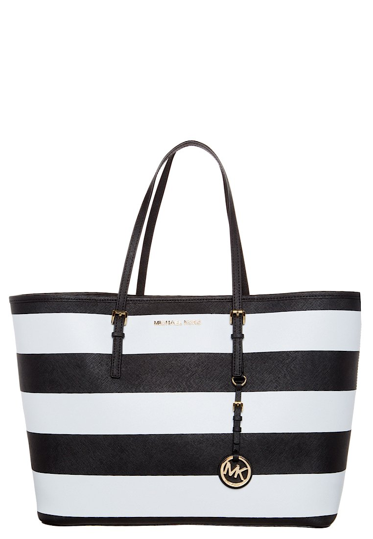 MICHAEL Michael Kors JET SET TRAVEL - Shopping Bag - black/white - Zalando.de