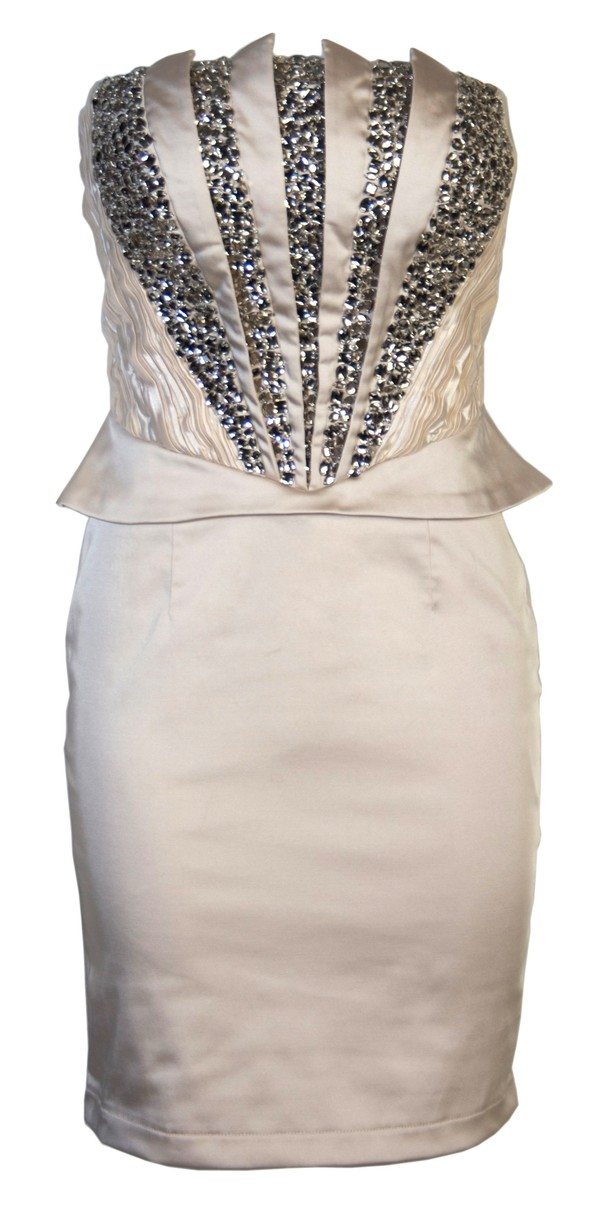 short prom dress prom dress clothes crystal embellished strapless dress party dress special occasion dress dress prom bright party clubwear cream diamonds short bust beaded sequin dress champagne dress rhinestones