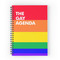 'the gay agenda' spiral notebook by aramisart