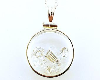 Gemstone shaker necklace on etsy, a global handmade and vintage marketplace.