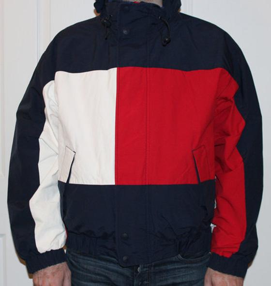 später limitierte Anzahl bezahlbarer Preis Vintage Tommy Hilfiger Big Logo Reversible Jacket (Size L)