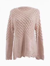sweater,textured sweater,bobble,jumper,Choies