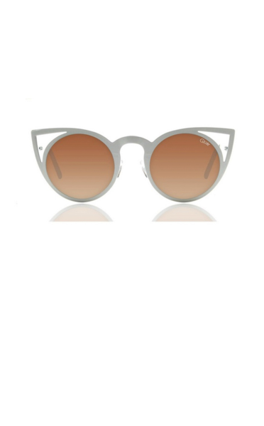 Quay invader white sunglasses