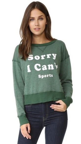 sweatshirt green sweater