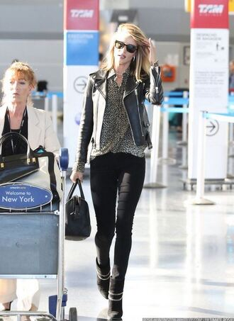 blouse rosie huntington-whiteley jacket biker jacket