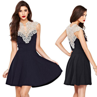 dress fashion lace dress women