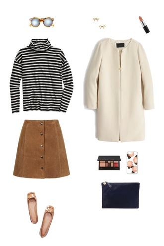 sequins and stripes blogger sunglasses skirt jewels make-up coat bag