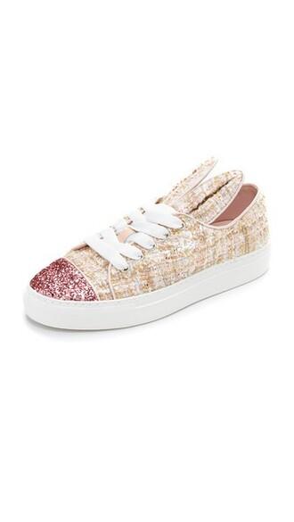 glitter bunny sneakers silver beige silver glitter shoes