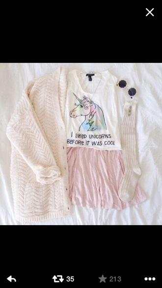 t-shirt unicorn white writing
