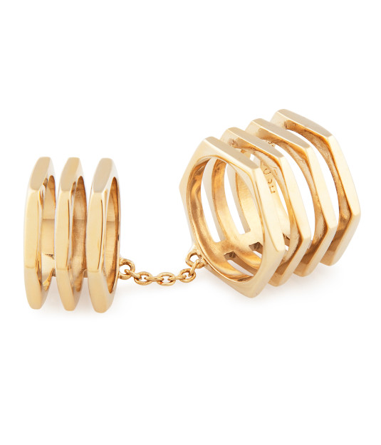 Double Down Metal Ring | Products | Henri Bendel