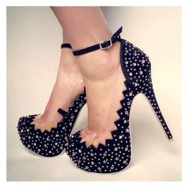 shoes ankel strap heels heels black heels