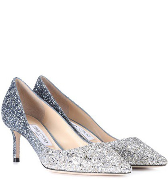 Jimmy Choo glitter pumps shoes