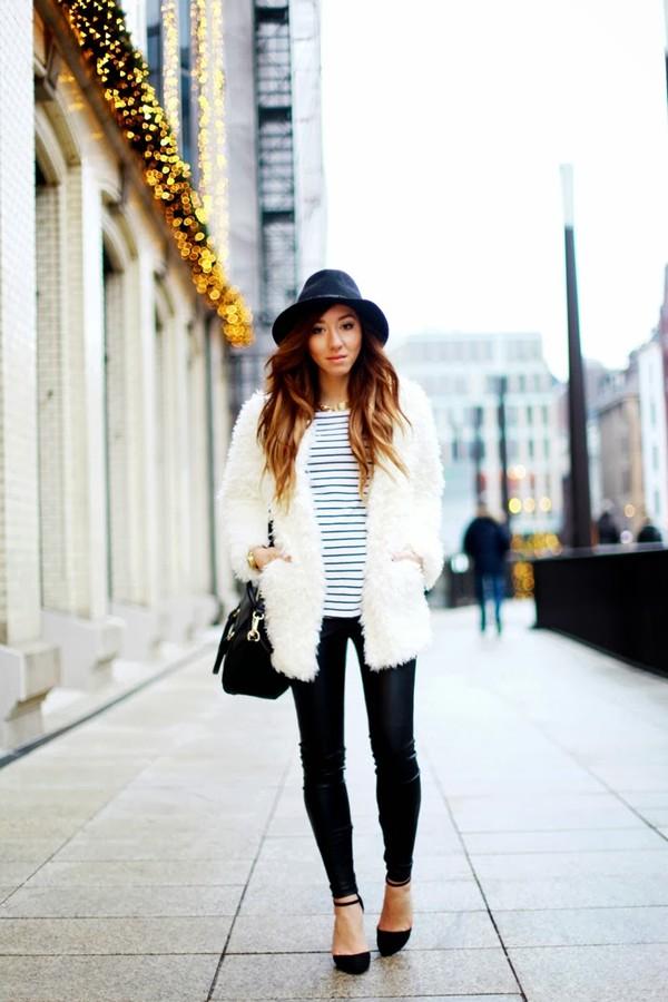 flirting with fashion coat shirt pants hat shoes bag