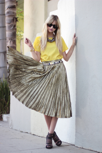skirt pop culture afternoon maxi pleated