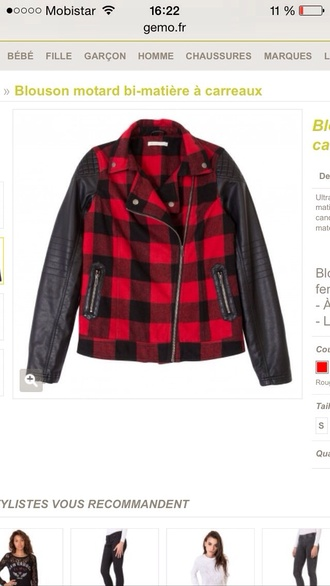 jacket bicolor black and red