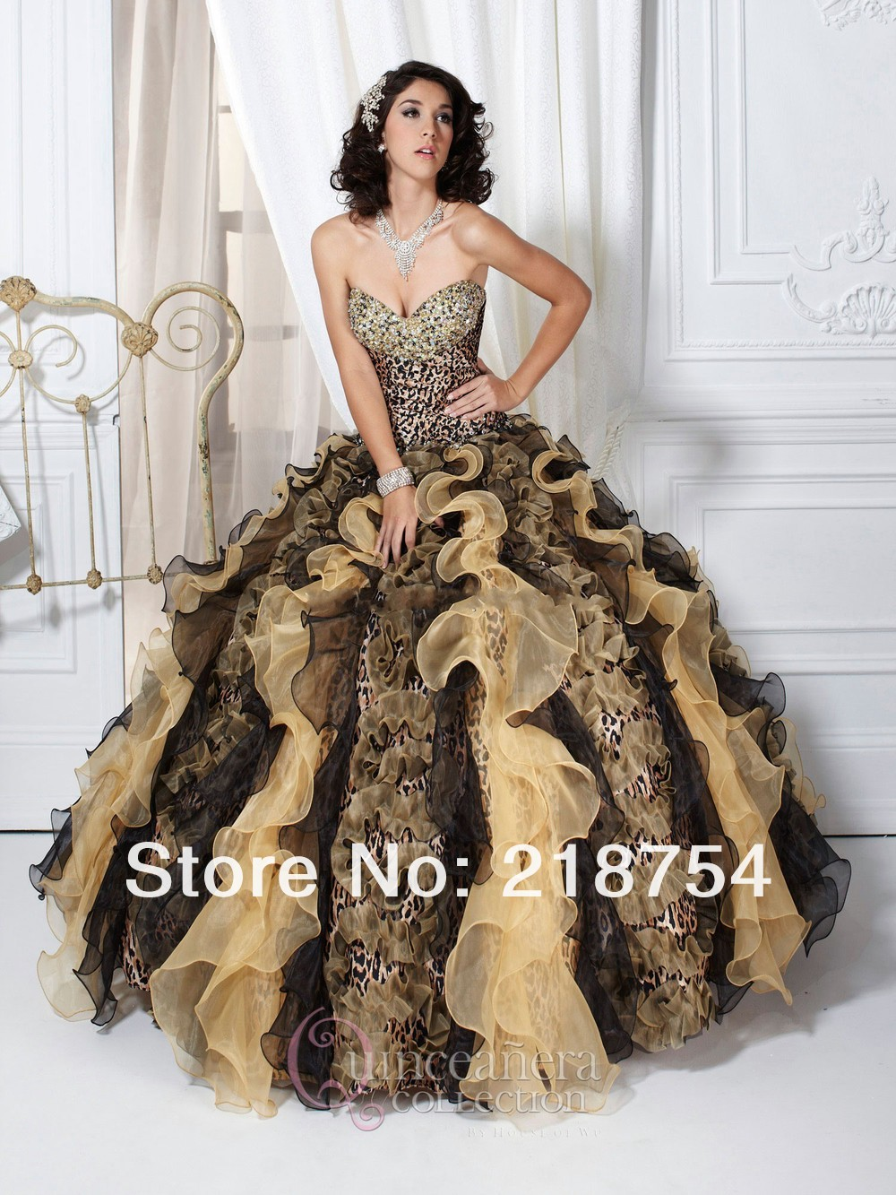 Aliexpress.com : Buy Free Shipping Sweetheart Ball Gowns Beaded Tiered Bottom  Champange Brown Organza Quinceanera Dresses Classic Prom Gowns 2013 from Reliable quinceanera red dresses suppliers on Lhasa Roland_love