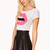 Lips Crop Top   FOREVER21 - 2000074301