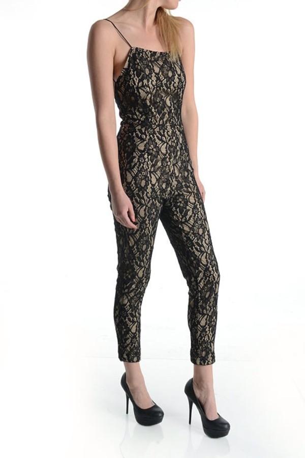 pants jumpsuit lace jumper 8one12