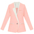 ROMWE | Color Block Pink Blazer, The Latest Street Fashion