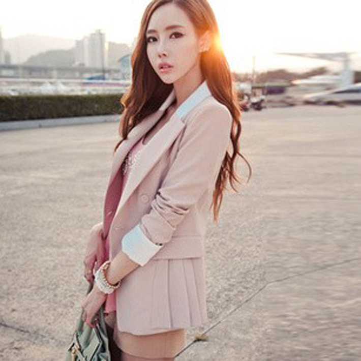 women's medium long Slim pink Blazers 2013 new female long sleeve suits women fashion outerwear free shipping WWX067-inBlazer & Suits from Apparel & Accessories on Aliexpress.com