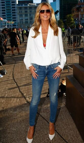 jeans heidi klum blouse top