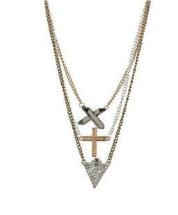 CROSS AND CRYSTAL MULTI PACK NECKLACE - Rings & Tings | Online fashion store | Shop the latest trends