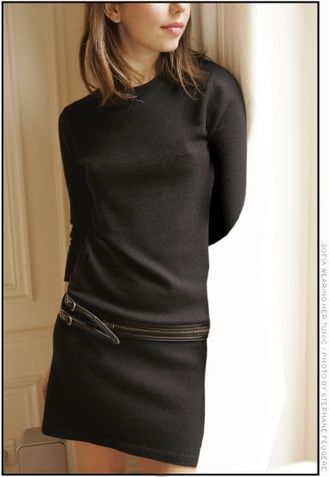 dress black sofia coppola cashmere