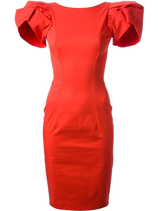 dress dsquared2 red dress