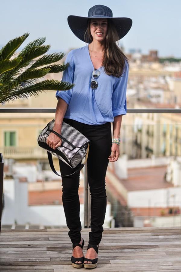 thank fifi hat blouse pants shoes bag jewels