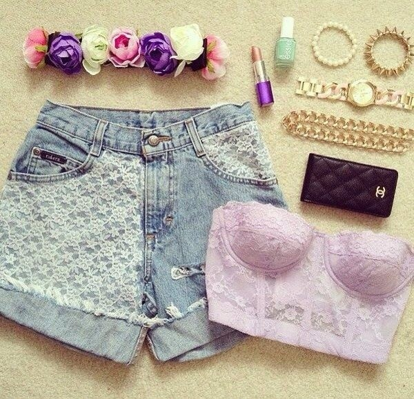 shorts tank top jewels