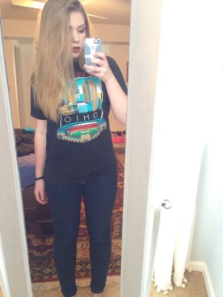 shirt hipster tumblr t-shirt graphic tee cute cool grunge