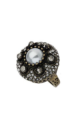 Pearl Dome Stone Ring - Topshop