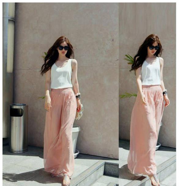 pants baby pink fashion style beautiful girl