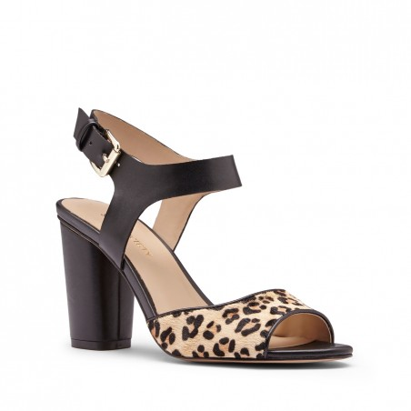 Women's Natural Multi  3 1/4 Inch  Block Heel Sandal | Caddie by Sole Society