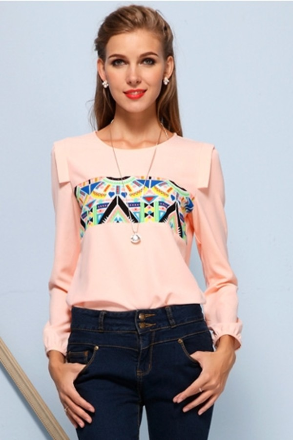 blouse persunmall persunmall blouse pink pink blouse