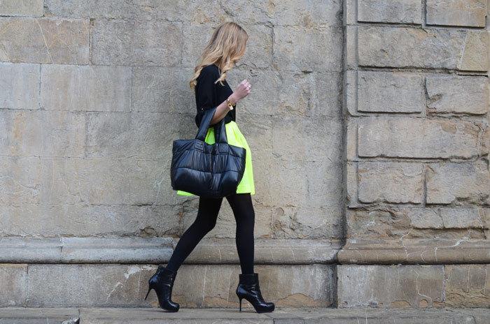 2013 Zara Snake Pattern Jacquard Skirt Animal Print Jacquard Skirt neon green m | eBay