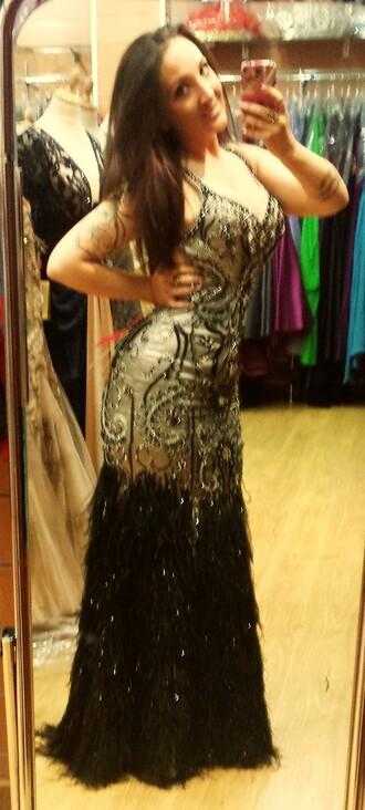 dress maxi dress black prom dress plum dress plume