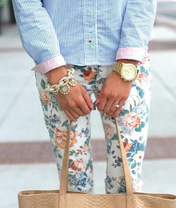 pants pants flowers