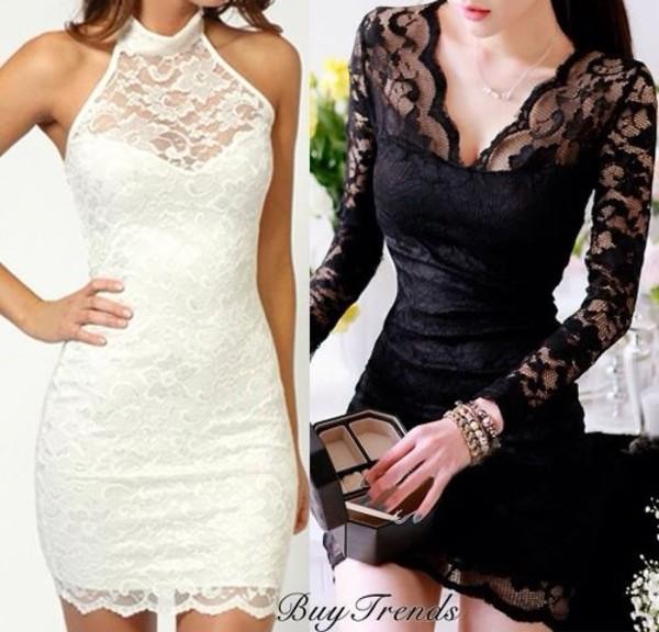dress black dress short dentelle  lace e black dress lace short black lace dress