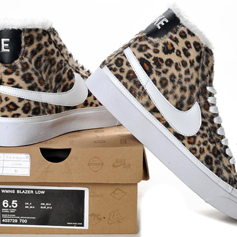 Discount Women Nike Blazer High Leopard Shoes On Choice