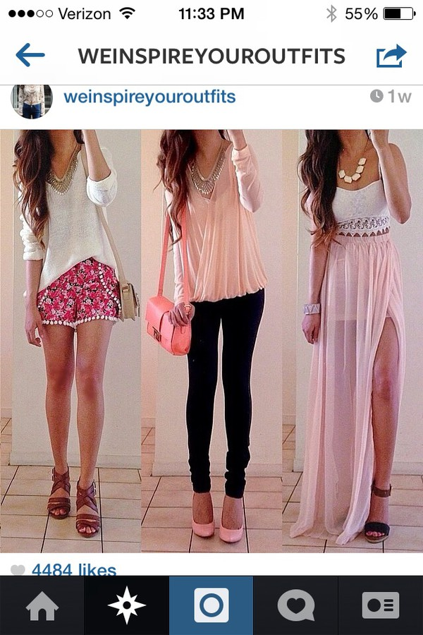 shirt shorts jewels pants bag shoes skirt