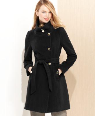 Tahari Marla Shawl-Collar Wrap Coat - Coats - Women - Macy's