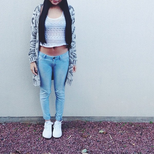jeans blouse t-shirt shoes sweater