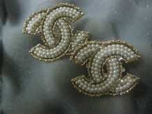 New Collection Chanel Gold CC Logo Stud Earrings with Pearls - Chanel Shop